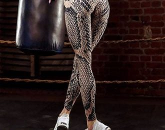 High Waist Snake Skin Leggings