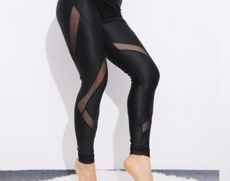 Breathable Patchwork High Waist Leggings