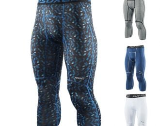 ARSUXEO Sports Compression 3/4 Tights