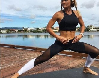 Mesh Block Workout Leggings