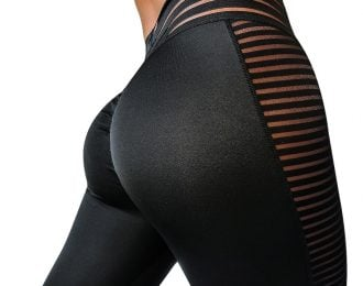 Stunning Striped Mesh Leggings