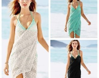 Swimsuit Cover Up Wrap Slip Dress (colors are 1,2,3)