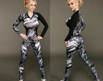 Two Piece Long Sleeve Yoga Set