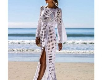 Knitted Beach Cover Up Dress