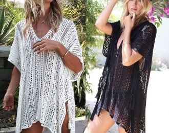 Lace V Neck Cover Up