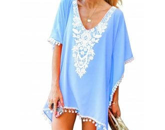 Casual Cover Up with Lace appliqué
