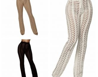 Crochet Palazzo Pant Cover Up