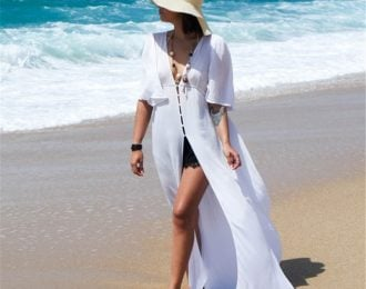 White Airy Floor Length Cover Up
