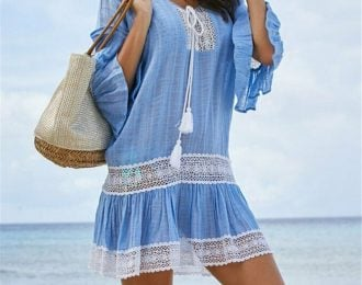 Drop Waist Embroidered Cover Up