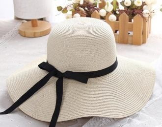 Casual Big Panama Hat with Thin Bow