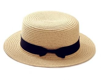 Casual Panama Hat with Bow