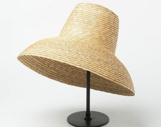 Handwoven Lamp Shade Style Hat