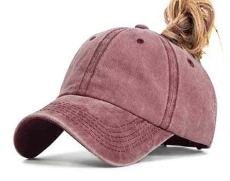 Ladies Ponytail Baseball Cap