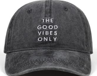 Unisex Good Vibes Only Baseball Cap