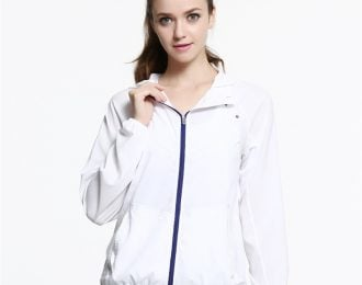 White Waterproof Jacket with Hood