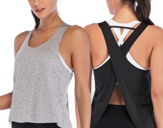 Criss Cross Open Back Sleeveless Top