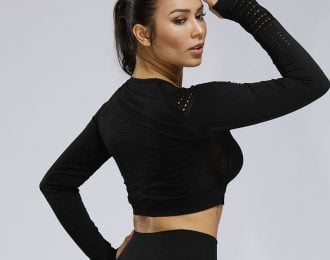 Seamless Long Sleeve Crop Top