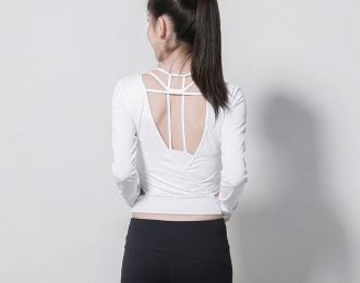 V-Back Long Sleeve Yoga Tee