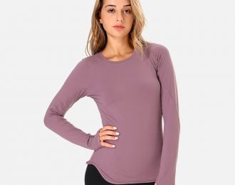 Pastel Crew Neck Long Sleeve Tee