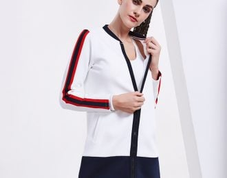 Nautical Inspired Color Block Jacket