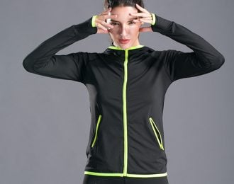 Neon Contrast Zipper Jacket